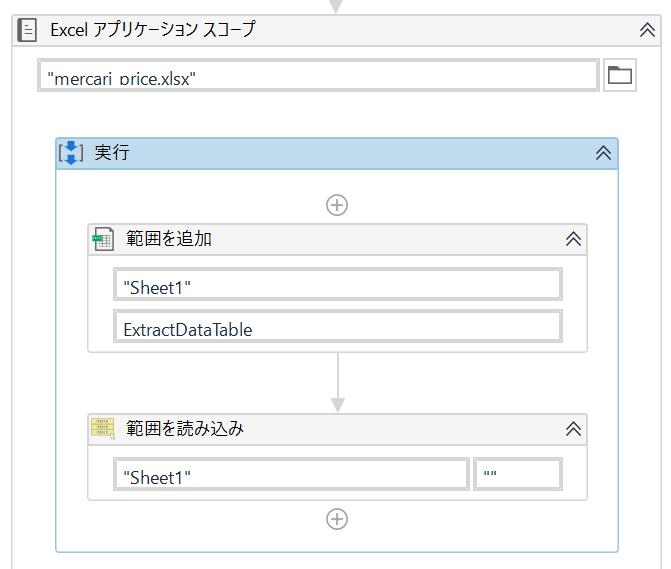 【Excelアプリケーションスコープ】アクティビティ